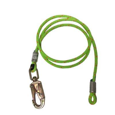 Rope logic's 1/2 in wire core flipline w/ swivel snap 12 ft