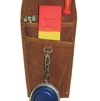 Leather wedge & tape holster
